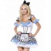 Alice maskeraddräkt 4-delad