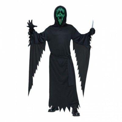 Glödande Scream Maskeraddräkt - One size