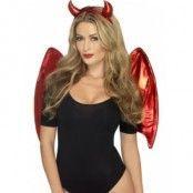 Maskeraddräkt kit djävul - komplett med vingar