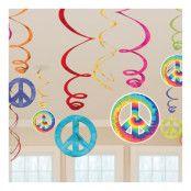 Swirls Hippie Hängande Dekoration