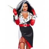 101 Dalmatiner Inspirerad Cruella De Vil Dräkt