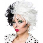 Diva Cruella - Svart och Vit Peruk