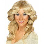 Blond 70-Tals ABBA Agnetha Discoperuk med Vågor