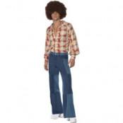 Retro-skjorta, 70-tal - Herrstorlekar