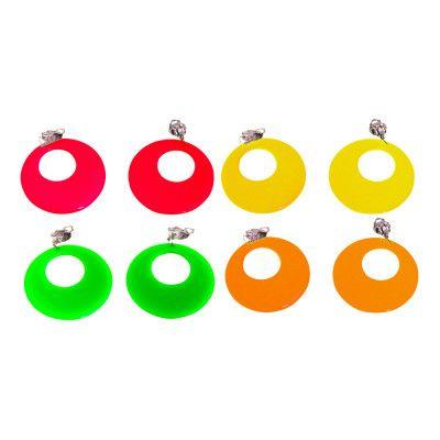 80-tals UV Neon Örhängen