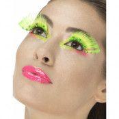 Neongröna Polka Dot Lösögonfransar med Lim