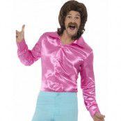 Rosa Satin Kostymskjorta till Man