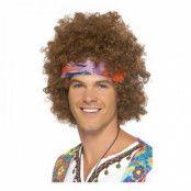 Afro med Pannband Peruk