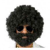 Afroperuk Svart med Skägg - One size