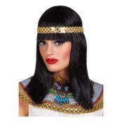 Cleopatra Peruk med Guldband - One size