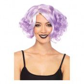 Curly Bob Lila Deluxe Peruk - One size