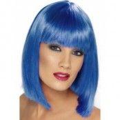 Peruk glam blå