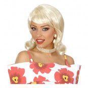 50-tals Flip Blond Peruk - One size