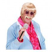 60-tals Musiker Blond Peruk med Mustasch - One size