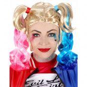 Harley Quinn Inspirerad Peruk med Hästsvansar