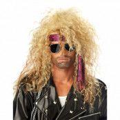 Heavy Metal Rockare Peruk - Blond