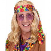 Lång Blond Hippie Peruk