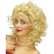 Leken Blond Peruk med Lockar