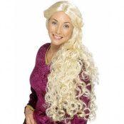Medeltidsperuk m/Lockar - Blond