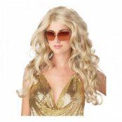 Sexig Supermodell Blond Peruk