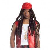 Hip Hop Peruk med Hatt