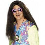 Hippy peruk brun