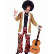 Woodstock Hippiedräkt till Man med Jacka och Byxa - Strl XXL
