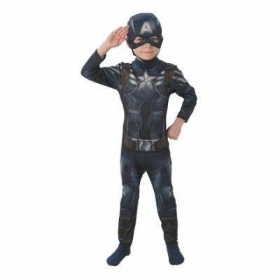 Captain America Barn Maskeraddräkt