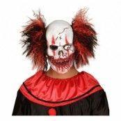 Blodig Clownmask med Hår - One size