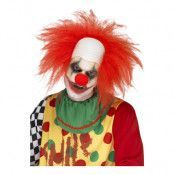 Clown med Flint Deluxe Peruk - One size