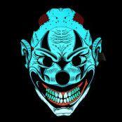 LED Mask Läskig Clown