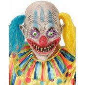 Psycho Clown Latexmask med Hår