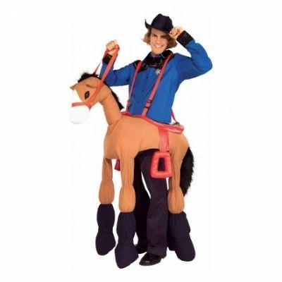 Cowboy med Häst Maskeraddräkt