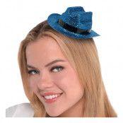Cowboyhatt Mini Blå Glitter - One size