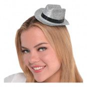Cowboyhatt Mini Silver Glitter - One size