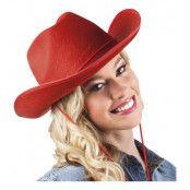 Cowboyhatt Rodeo Röd - One size