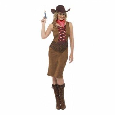 Cowgirl Brun Maskeraddräkt