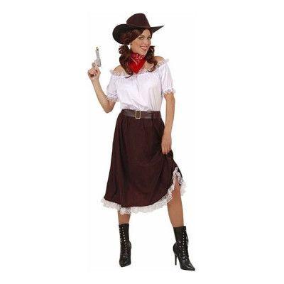 Cowgirl med Kjol Maskeraddräkt - Medium