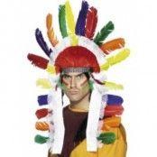 Indianhövding huvudbonad