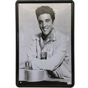 Charming Elvis - metallskylt 30x20 cm
