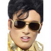 Elvis Presley - Guldfärgade Kostymglasögon