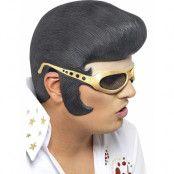 Elvis Presley Latex Huvudplagg med Glasögon