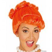Orange Flintstones Inspirerad Wilma Peruk