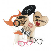 Foto Props Just Married - 10-pack