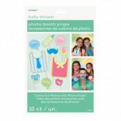 Fotoprops på Pinne Babyshower - 10-pack