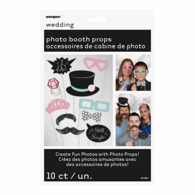 Fotoprops på Pinne Bröllop - 10-pack