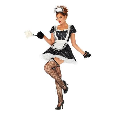 Söt French Maid Deluxe Maskeraddräkt - X-Large