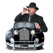 Kartongfigur Gangster Bil Foto Prop