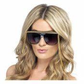 Solglasögon med Guldkedja
