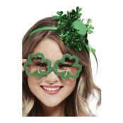 Glasögon St Patricks Day Grön/Glitter - One size